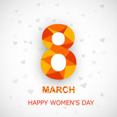 Happy Women's Day background with stylish colorful text 8th Marc