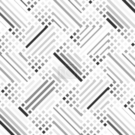 Illustration for Vector seamless pattern stylish modern texture repeating geometric design - Royalty Free Image
