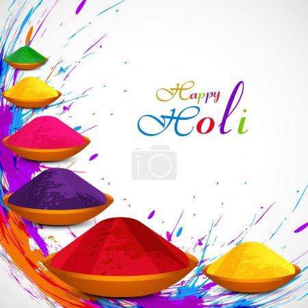 Beautiful gulal colorful background of holi festival grunge desi