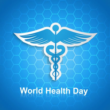 Caduceus medical symbol beautiful World health day...