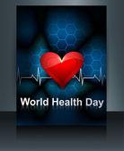 Vector llustration World health day brochure template of heart b