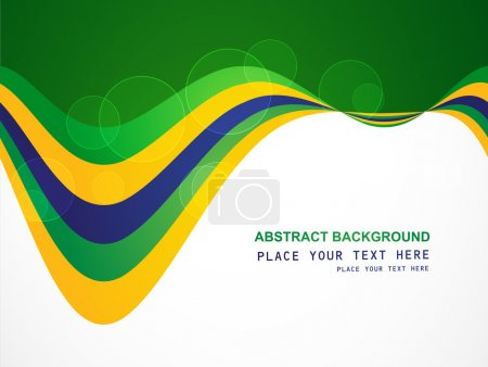 Brazil flag concept creative business colorful wave background