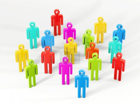 colourful peoples isolated on a white background