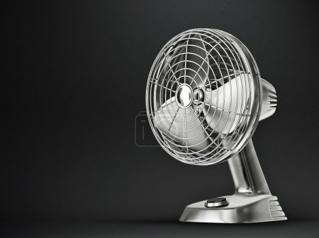 Photo for Electric fan isolated on a black background - Royalty Free Image