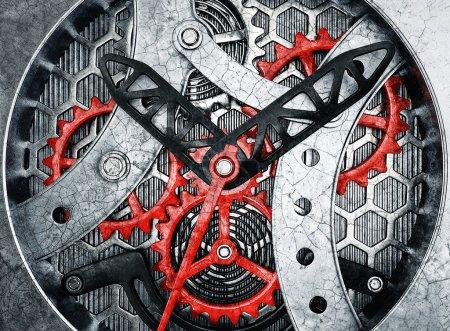 Photo pour Mécanisme de montre de luxe. 3d en haute résolution - image libre de droit