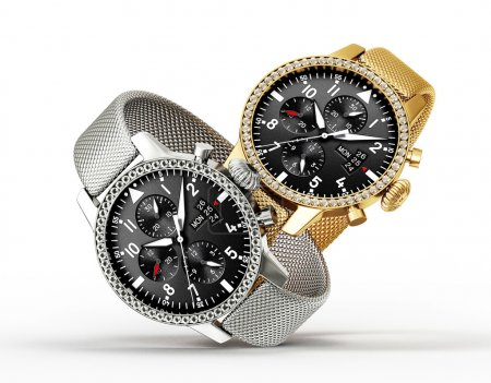 Modern watches isolated on a white background...