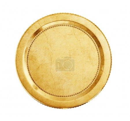 Photo pour Pièce d'or isolé sur fond blanc - image libre de droit