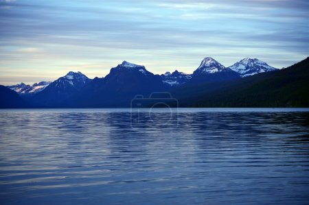 Mountain Range and Lake