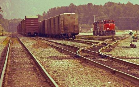 Canadian Railroads Theme. Vintage Colors. Transpor...