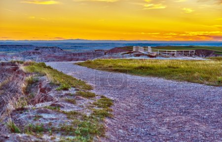 Badlands One of Many View Points During Sunset. Ba...