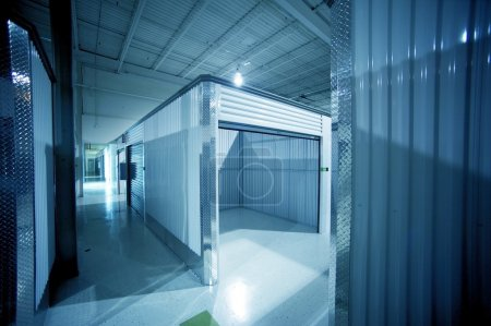Photo for Open Storage Unit. Climate Controlled Modern Storage Warehouse - Storage Facility Interior. Unit for Rent-Lease. Business Photo Collection - Royalty Free Image