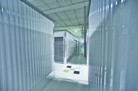 Photo for Storage Units. Storage Facility Interior. - Royalty Free Image