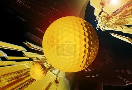 Photo pour Tournoi de golf fond doré brillant. Parfait pour les tournois de golf et autres défis liés au golf. Collection Illustrations sportives - image libre de droit