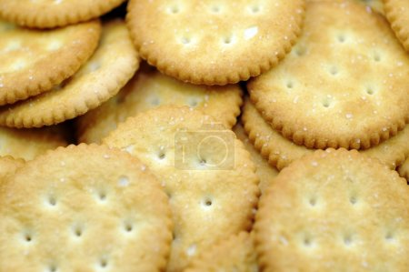 Photo for Crackers Cookies Background. - Royalty Free Image