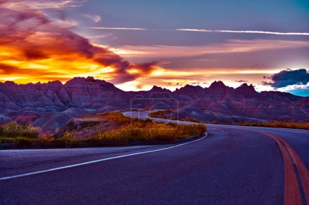 HDR Badlands Sunset
