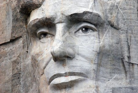 Foto de Abraham Lincoln (February 12, 1809 � April 15, 1865) Served as the 16th President of the United States from March 1861 until His Assassination in April 1865. Abraham Lincoln Sculpture in Black Hills, South Dakota, USA. Mount Rushmore. - Imagen libre de derechos