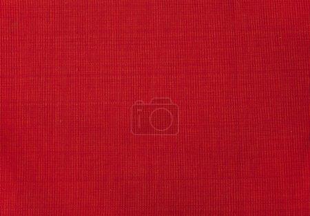 Photo pour Tissu rouge toile de fond. Fond textile rouge profond . - image libre de droit