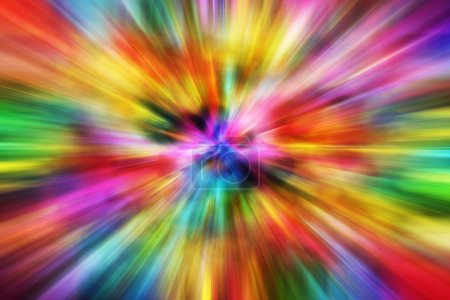 Photo for Colorful Motion Blur Background. Multi-Color Speeding Effect. Abstract Backgrounds Collection. - Royalty Free Image
