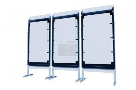 Photo for Display Stand 3D Illustration Isolated on White. 3D Render. Multi Modules. Trade Show Display. Business Collection. - Royalty Free Image