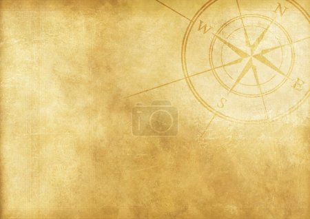 Photo for Vintage Journey Background with Compass Rose. Aged Paper Background. - Royalty Free Image