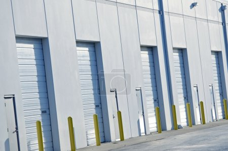 Photo for Warehouses Gates Closeup. Logistic Photo Collection. - Royalty Free Image