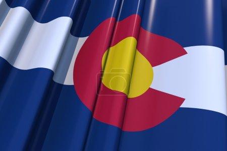 Photo pour Illustration du drapeau 3D de l'État du Colorado. États-Unis Colorado Flag Graphic . - image libre de droit
