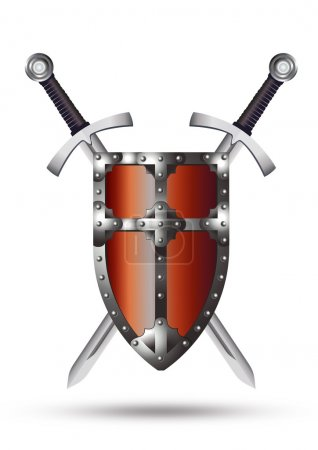 Medieval Shield and Swords