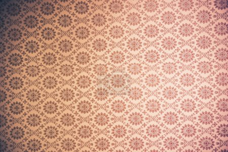Photo for Vintage Wallpaper Background - Old Seamless Wallpaper - Royalty Free Image