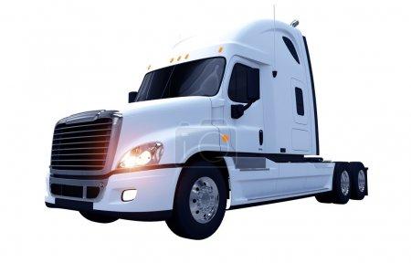 White Moder Semi Truck
