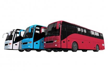 Flotte de bus isolés