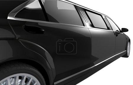 Black Limousine Side View