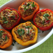 Stuffed paprika with meat, rice and vegetables....