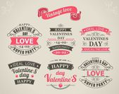 Kaligrafické návrhové prvky valentine den