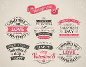 Calligraphic Design Elements Valentines Day