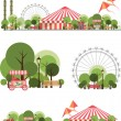 Vector holiday background with karnvalom and amuse...