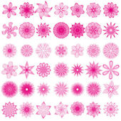 Vector set with abstract flowers for you design