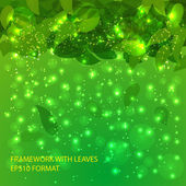 Beautiful background with leaves for use in your design Vector eps 10