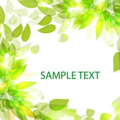 Beautiful with leaves for use in your design Vector eps 10