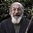 Portrait of an elderly bearded man with a smile on...