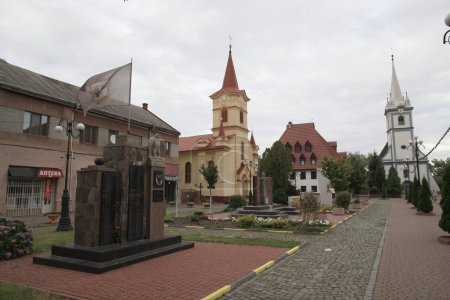 Tyachev (Ukrainian Tyachіv) - city, regional center Tiachiv district, Transcarpathian region of Ukraine, located in Maramorosh hollow on the right bank of the Tisza.