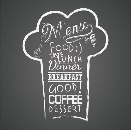 Vector menu design on the chalkboard