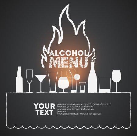 Illustration pour Couverture de menu pour brasserie. Illustration vectorielle. Eps 10 - image libre de droit