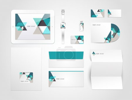 Corporate identity kit or business kit with artistic, abstract elements for your business