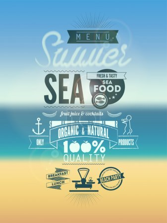 Photo for Summer Menu Poster. Vector illustration. - Royalty Free Image