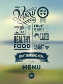Menu poster Vector background