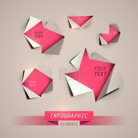 Illustration for Vector Design template. Infographics element - Royalty Free Image