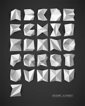 Illustration pour Alphabet vectoriel Origami - image libre de droit