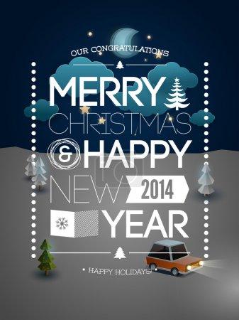 Merry Christmas & Happy New Year desig
