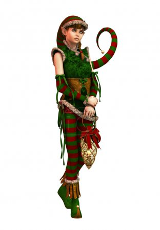 Santas Little Helper Amy CA, 3d CG