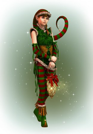 Santas Little Helper Amy, 3d CG